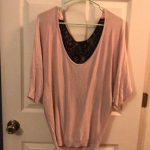 Express light pink mid length sweater